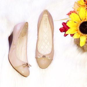 🆕COLE HAAN Nude Leather Wedge Heels